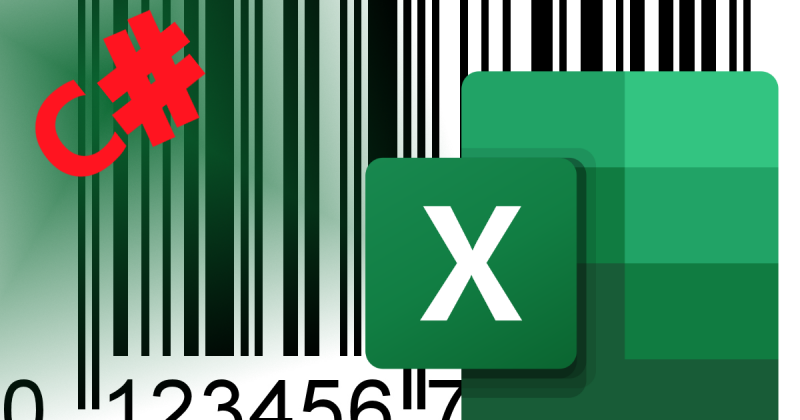 Convert & extract data from a barcode image to an excel sheet