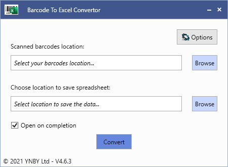 Barcode To Excel App